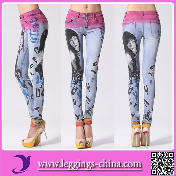 2014 China Fashion Sexy New Design Jeans Girls
