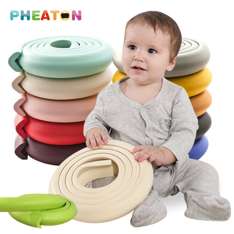 2M Children Protection Baby Safety Products Glass Table Edge Furniture Guard Strip Horror Crash Bar Corner Foam Bumper Collision
