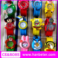 NEW CARTOON SLAP ON SNAP CHILDRENS KID GIRLS BOYS SILICONE KIDS SLAP WATCH