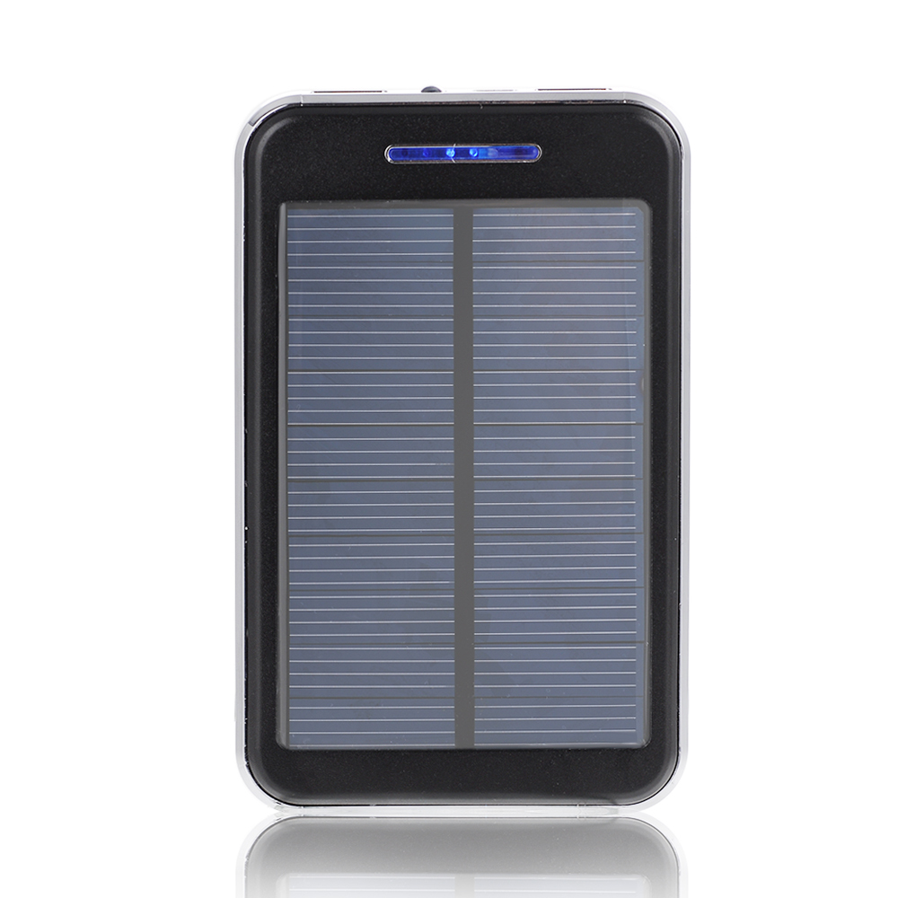 16000mah solar panel charger power bank portable dual usb. Black Bedroom Furniture Sets. Home Design Ideas