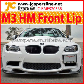 For Bmw E92 M3 Front Bumper Lip Hm Style Cf Front Spoiler Buy M3