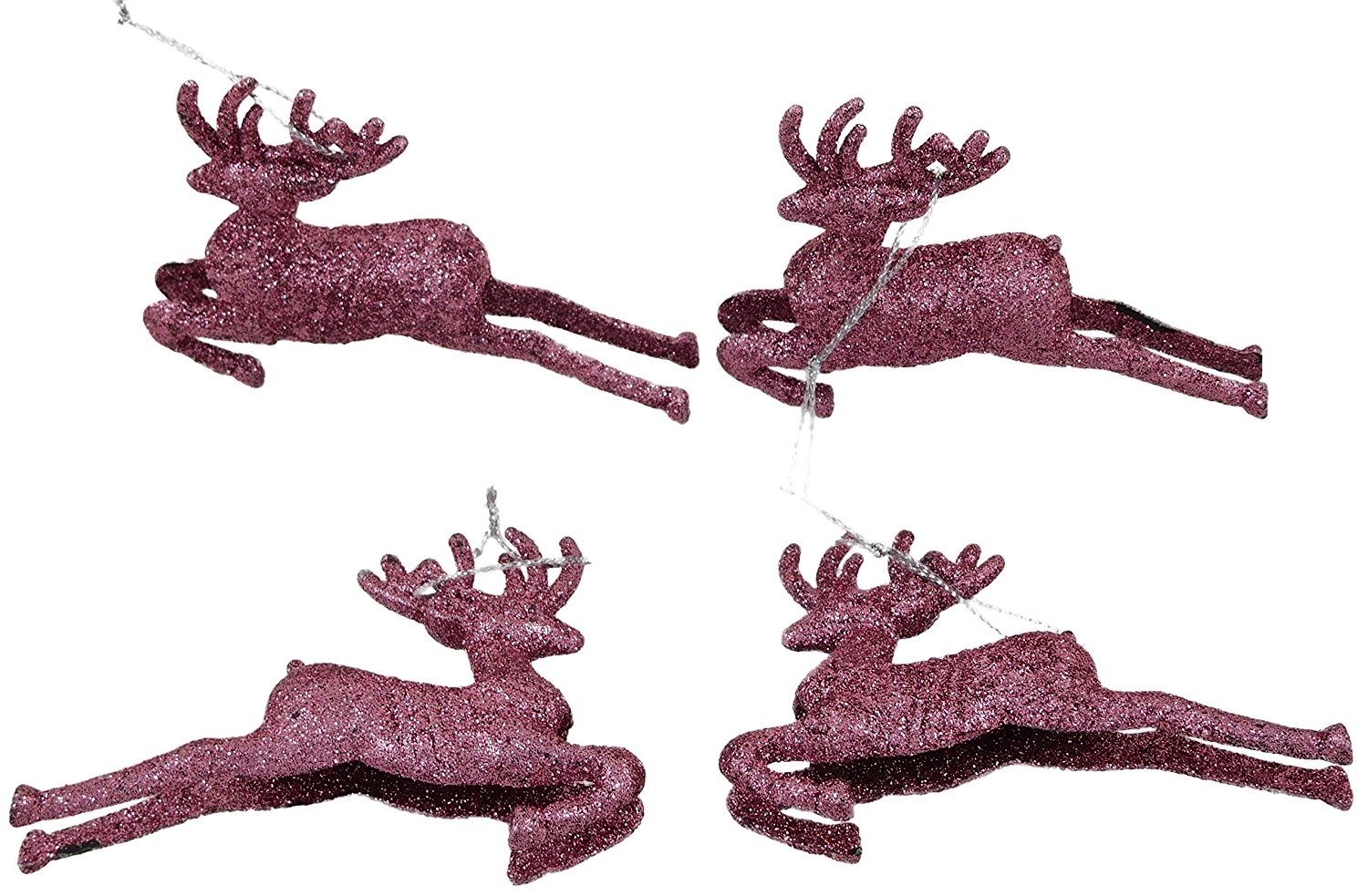 get quotations pack of 4 95cm blush pink glitter reindeer christmas decorations tree trims