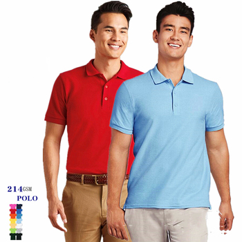 Hot selling wholesale Good quality  customized logo oem  214gsm 100% cotton 14 colors plain blank men polo shirt