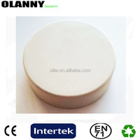 "new mold official size and material white 3*1"" rubber hockey puck"