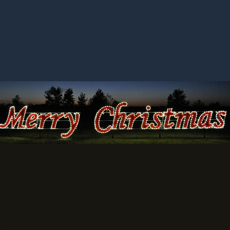 Christmas lawn displays outdoor giant 2D LED rope light silhouette Merry  Christmas lighted signs - Christmas Lawn Displays Outdoor Giant 2d Led Rope Light Silhouette