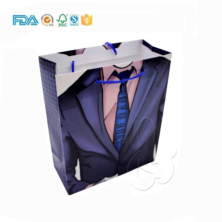 Favor custom printed garment paper gift bags for wedding party