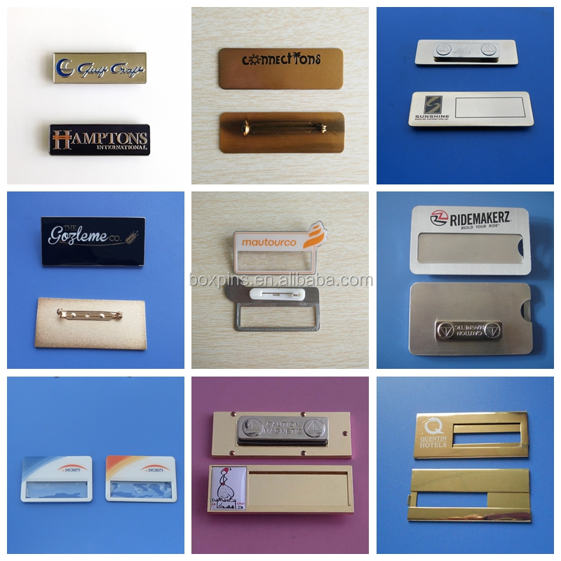 Hot Selling Printing Magnetic Metal Nameplate For Group Staff