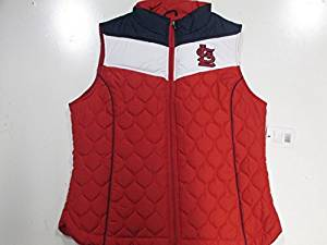 Saint Louis Cardinals Womens Large Embroidered Full Zip Quilted Vest Jacket ASLC 41 L