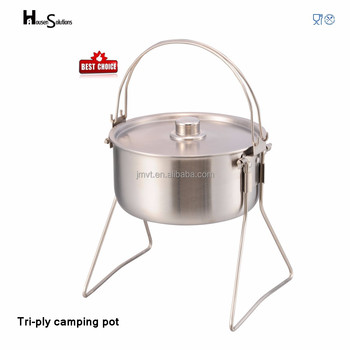5.4L outdoor camping hot pot technique stainless steel cookware
