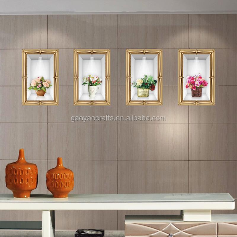 Simulasi Vas Tiga Dimensi Dekoratif Dinding Stiker Dekorasi Decals