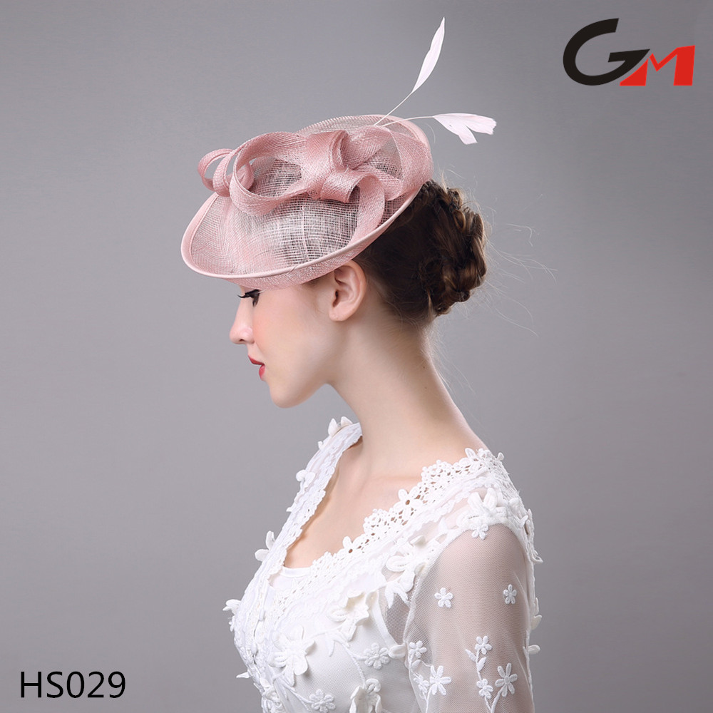 2017 new hot wholesale women ladies wedding hair accessories fancy hat