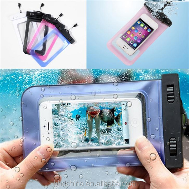 Water proof Mobile Phone Case PVC Waterproof Cell phone Carry Bag for Phone Accessories