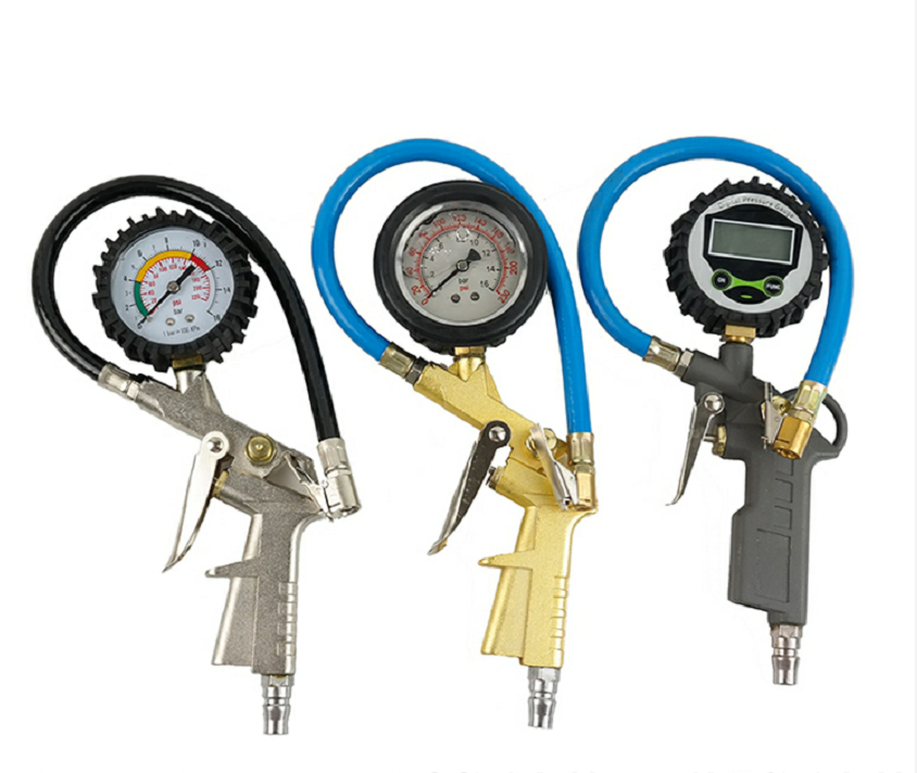 Portable Tools Digital Air Inflating Pressure Gauge Car Vehicle Automatic Tire Inflator Gun