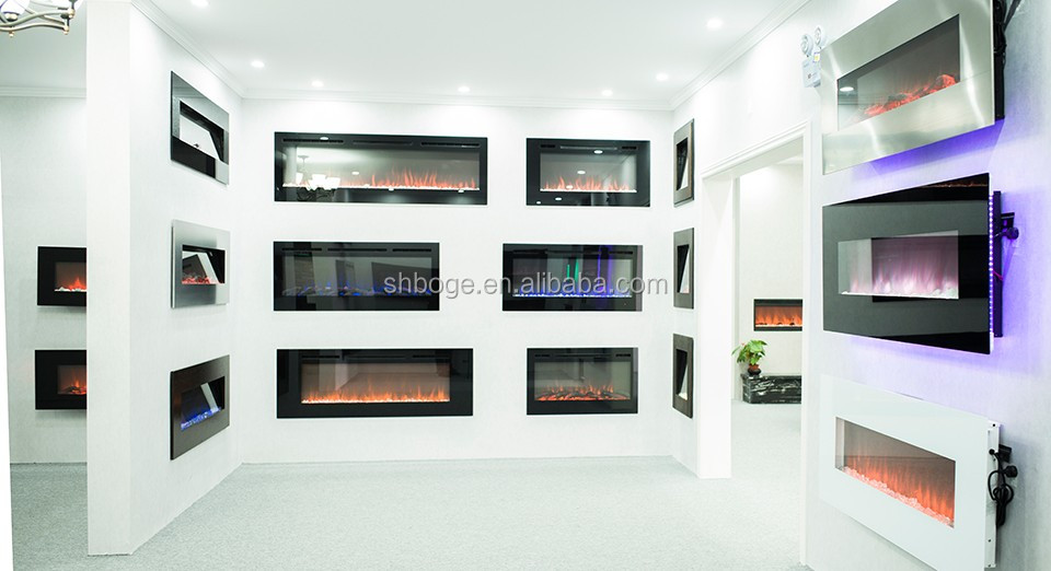 "50"" width 3 color touch panel electric fireplace"