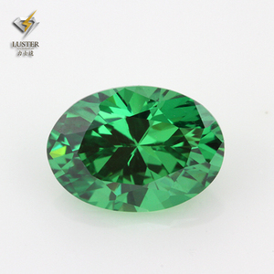 8*10mm Oval Shape Loose Synthetic Green CZ
