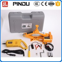 Portable 2 tons 12v electric car jack and impact wrench