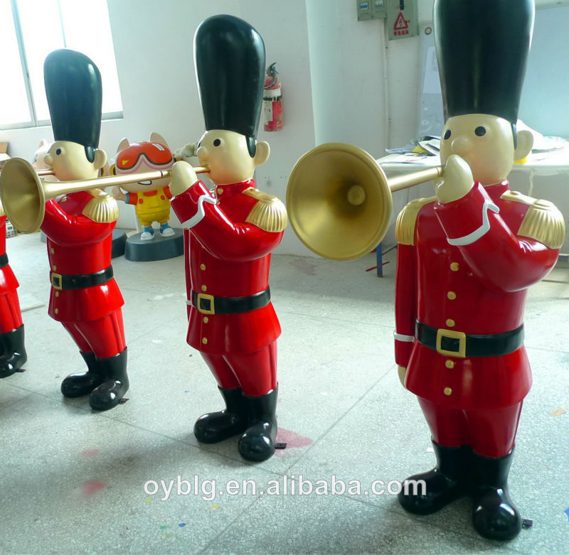 Hot sale fiberglass christmas ornaments outdoor soldier for Outside christmas figures