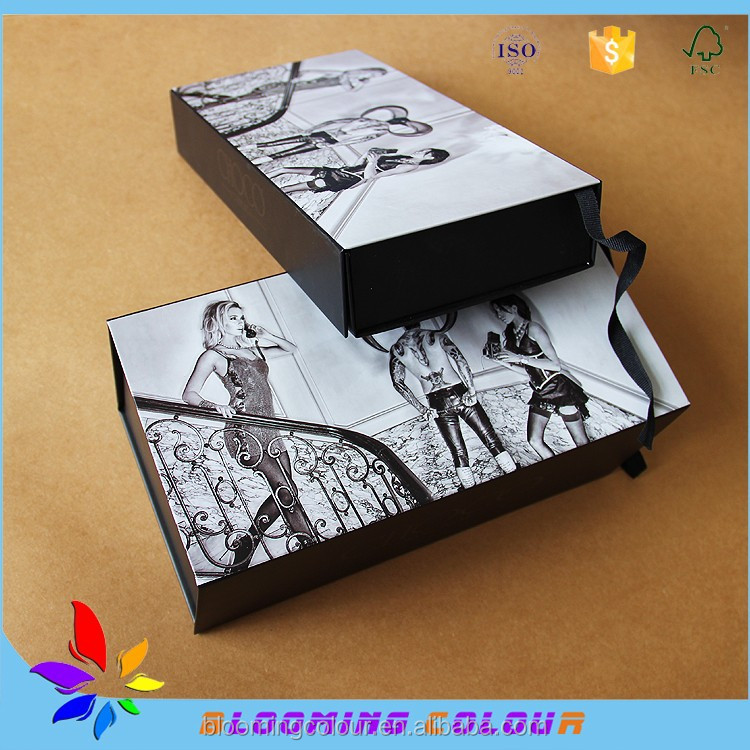 Good Comments Hot Sale In Alibaba Magnetic Folding Gift Paper Packing Boxes For Apparel, Clothing
