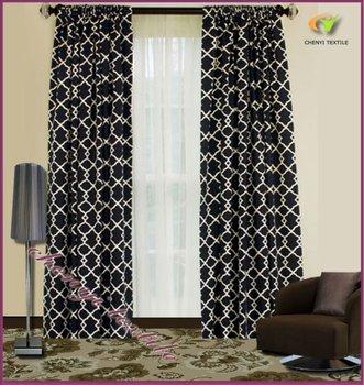 Black Curtains black curtains cheap : New Luxury Black White Jacquard Curtains Fabrics - Buy Curtains ...