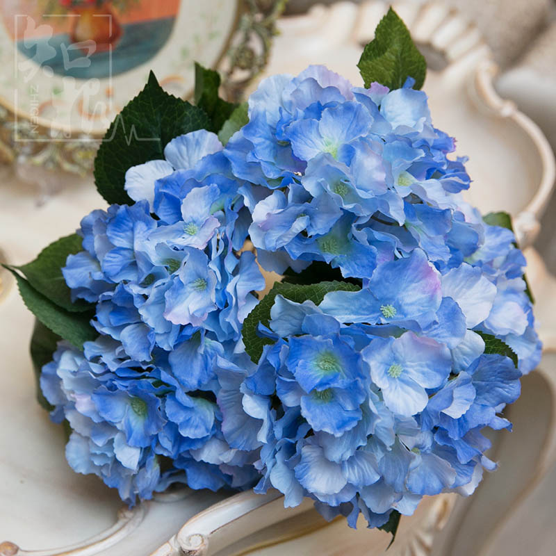 5 Heads Spring Simulate Hydrangea Bouquet Flowers Wedding Celebration Decorations Home Silk Flower Arrangement