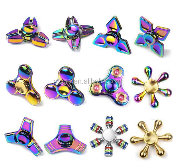 China factory low price colorful metal alloy hand fidget rainbow spinner