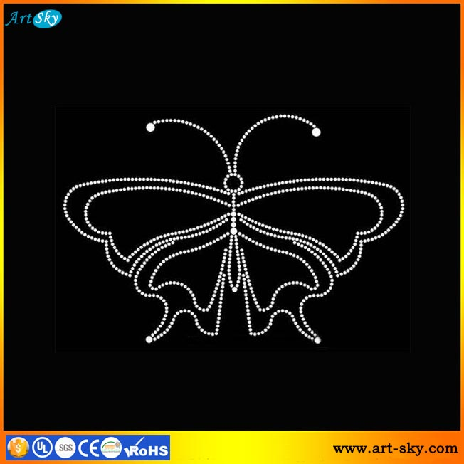 Artsky hotfix rhinestone transfer bedazzle crystal patch butterfly silhouette cameo templates free