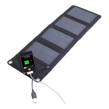 Portable 7W Solar Panel, Solar Panel With Battery, Solar Panel Charger Flexible Monocrystalline 5V