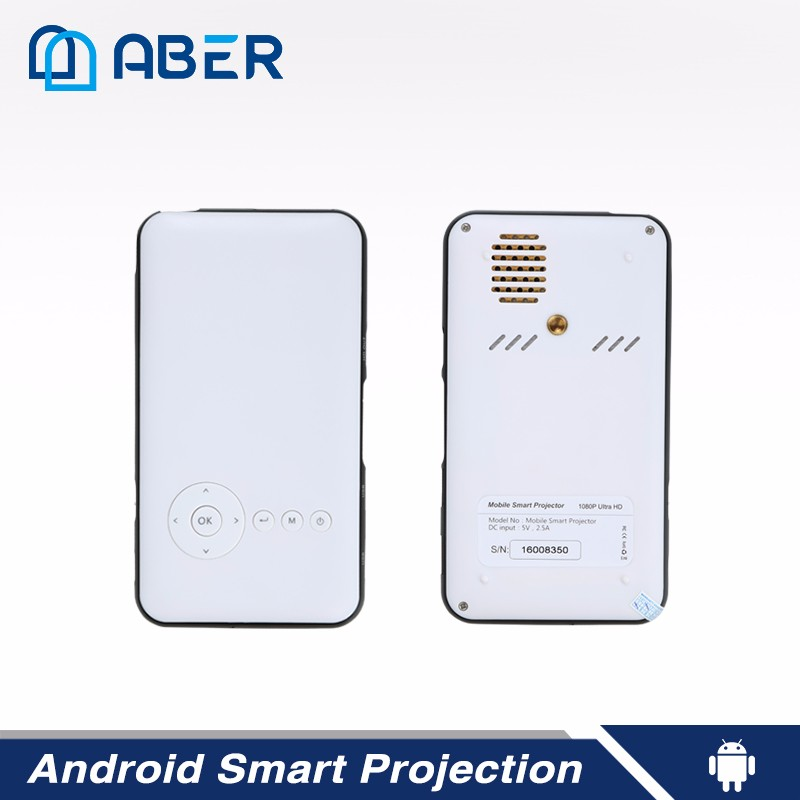 Portable Mini Projector for Iphone and Samsung Smartphone with Screen Mirroring Function WiFi Connectivity