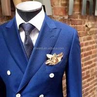 2017 top quality royal blue coat pant men formal business suits,bespoke men's suits