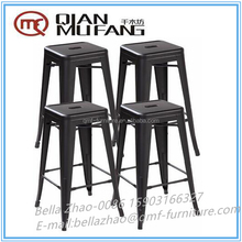 Italy cheap industrial metal stacking bar stool and chairs