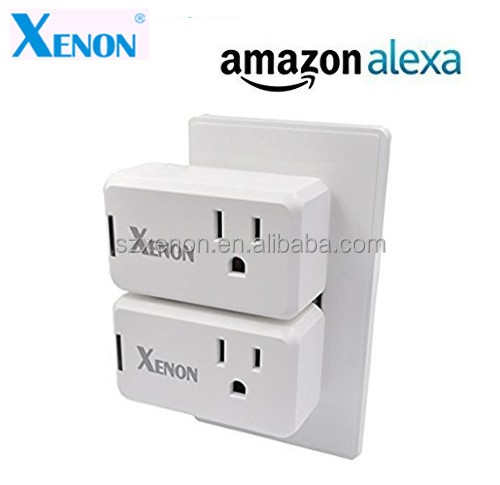 XENON Wi-fi Smart Plug Socket Outlet US Wireless and Remote Control your Devices By Smartphone, Works with Amazon Alexa