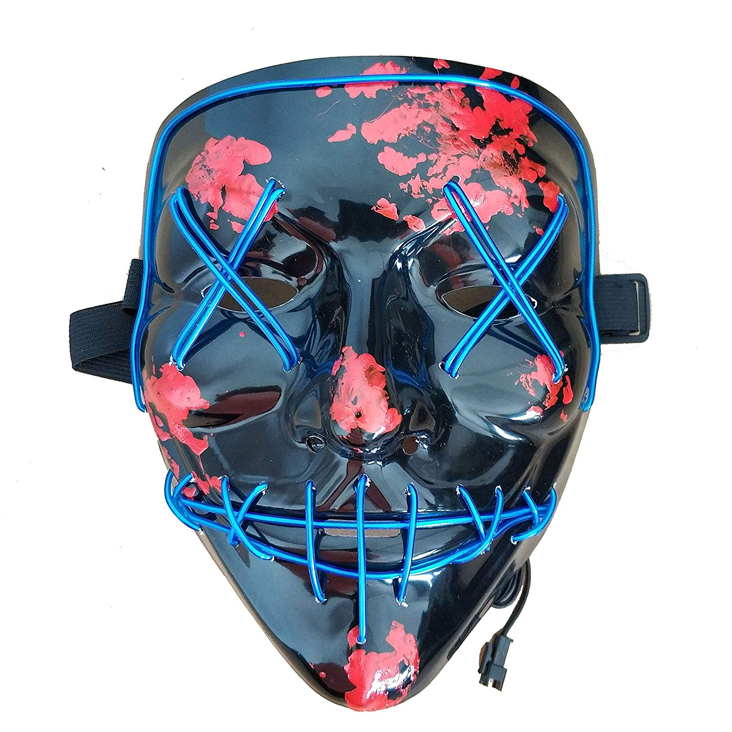 Himine Halloween Mask Cosplay LED Light up Purge Mask for Festival Party