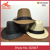 S2067 new arrival men women panama fedora trilby sun caps beach summer adult party jazz hats wholesale