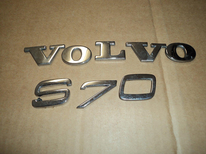 00 Volvo S70 Rear Trunk Chrome Emblem Individual Nameplate Symbol Set