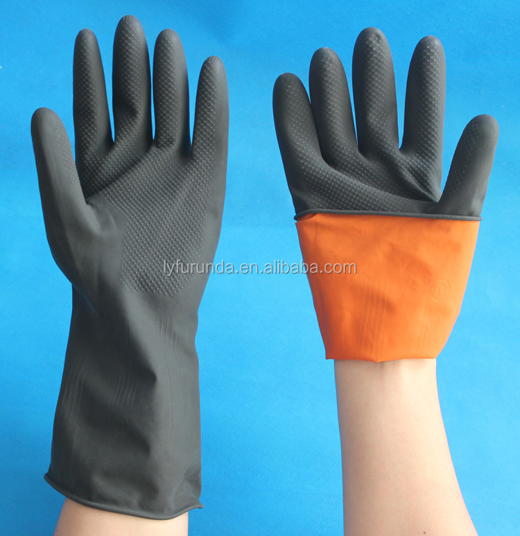 Hot sale industrial rubber work gloves
