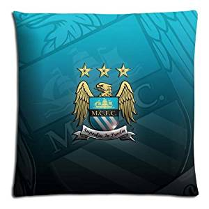 "18x18 18""x18"" 45x45cm throw pillow cases protector [ Polyester - Cotton ] decorating Pillow Protector Manchester City MCFC FC soccer club logo"