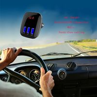 Univeral 4-in-1 CAR FM Transmitter Bluetooth TF Music Player 3 USB Car charger Bluetooth FM Transmitter