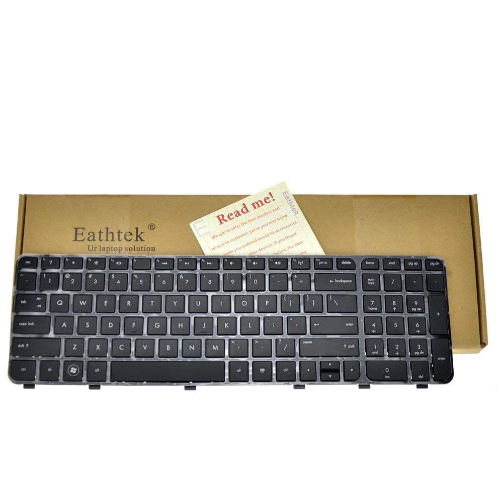 Eathtek Replacement Keyboard with Frame for HP Pavilion DV6-7000 series Black US Layout