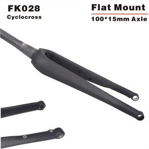 2016 new design CX carbon fork Cyclocross flat mount disc brake carbon bicycle fork 160mm Disc fork