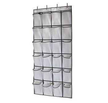24 Pockets Crystal Clear Over The Door Shoe Closet Organizers Clear Shoe  Organizer Hanging Door Hanging