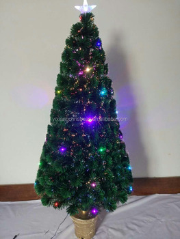 colorful led fiber christmas tree 5ft150cm with big star for christmas decor