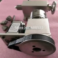 Nema 23 stepper motor (4:1) K11-100mm 3Jaw Chuck 100mm CNC 4th axis A aixs rotary axis + tailstock for cnc router
