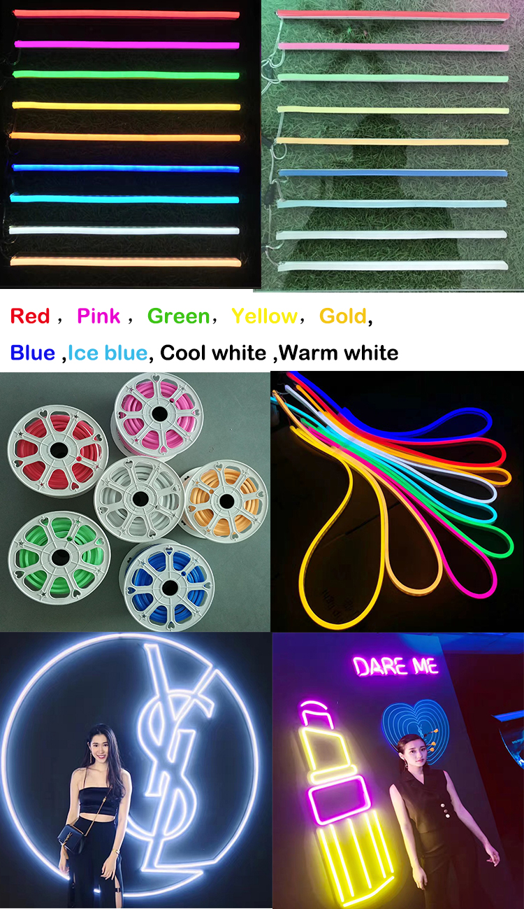 wholesale OEM custom bespoke led logo soft flex neon strip sign for decoration with spelling words