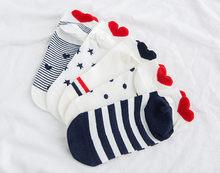 Женские носки, высокое качество, 5, пар/лот, новые, хлопковые, летние, красивые, женские носки, опт()