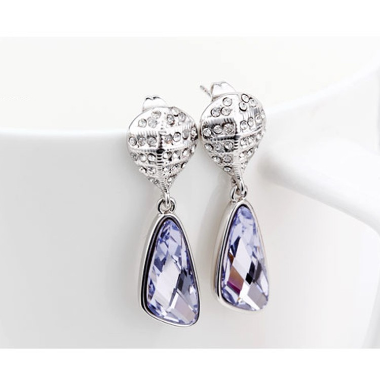 White Gold Earrings Design For Women Jewelry Online Product On Alibaba