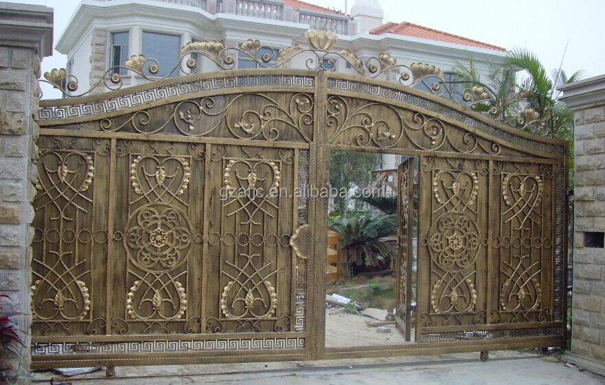 Steel Tubular Gate For Villa Metal Gate Iron Fancy Gates