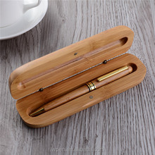 Promotional ball pen gift eco friendly twist wooden pen set