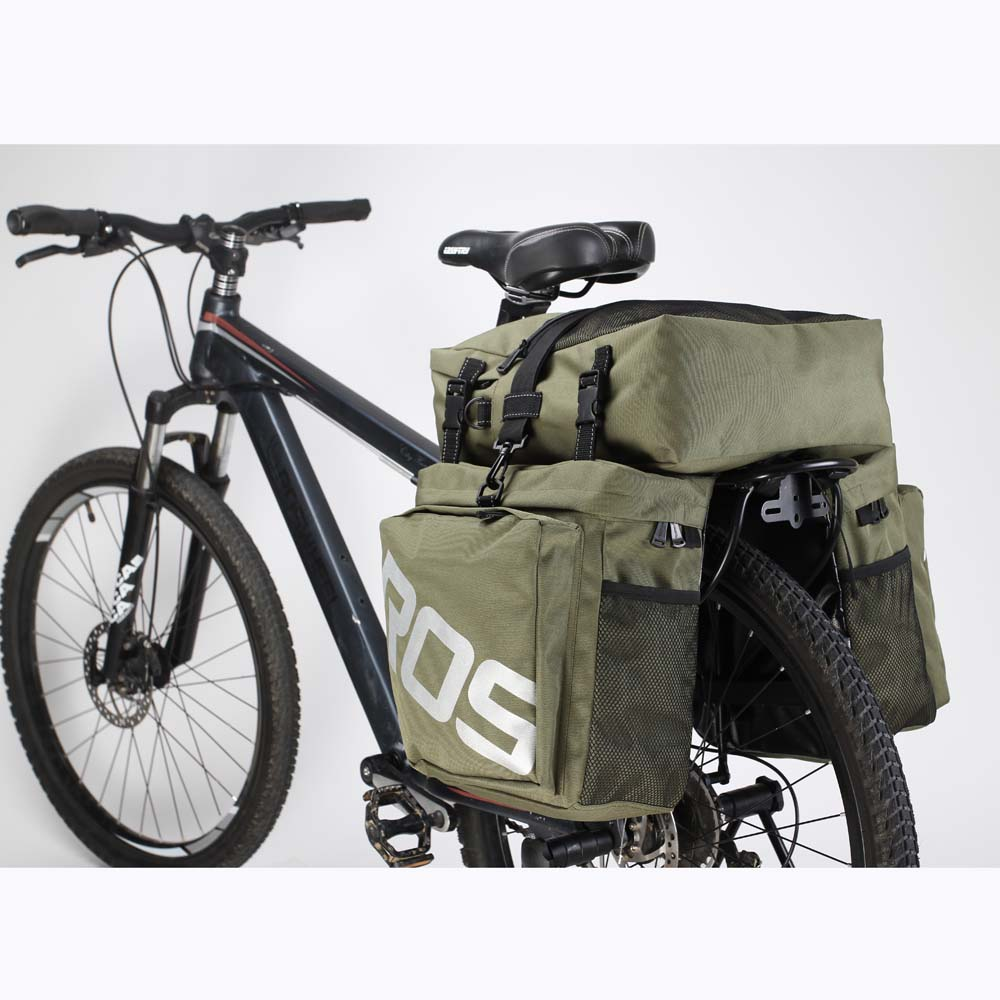 2018 Accessories Bicycle Bags Panniers Roswheel 3 In 1 Waterproof Polyester Mountain Road Bike Cycling Double Side Rear Rack Tail From Sport 11