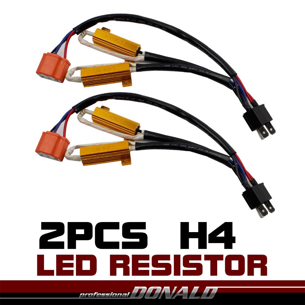 2x h4 hb2 50w 8ohm car led drl fog load resistor canbus ... h4 bulb wiring diagram h4 led wiring