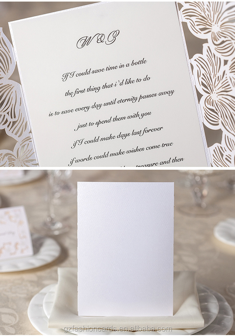 2015 Latest Design Elegant Cheap European Laser Wedding Card - Buy ...